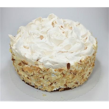 Bezmléčný vanilkový dort s ostružinami a sněhovou krustou