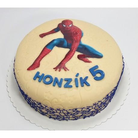 Marcipánový dort Spiderman