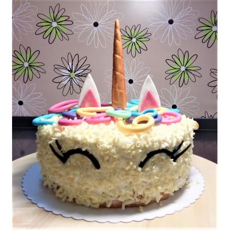 Vanilkový dort s 3D unicornem