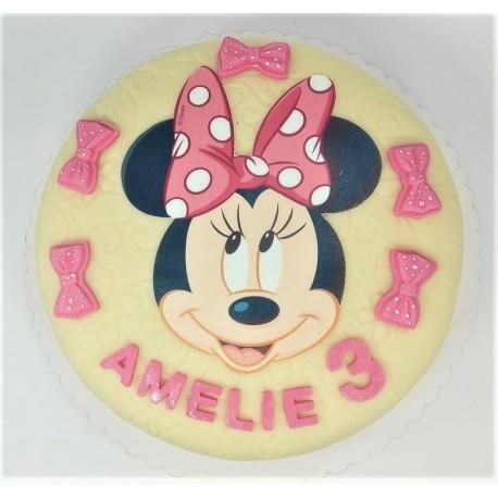 Marcipánový dort s Minnie
