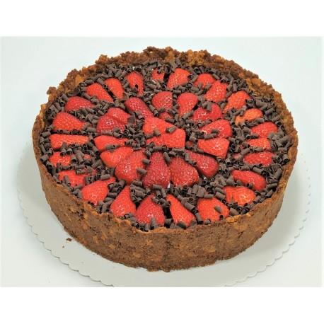 Jahodový cheesecake s čokoládou