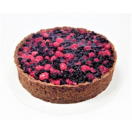 Cheesecake s malinami a borůvkami