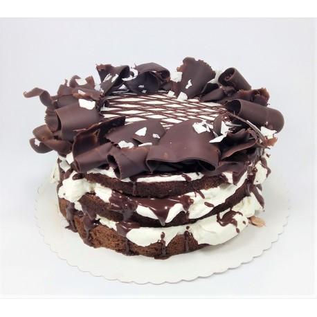 Bezlaktózový čokoládový dort s kokosovým krémem