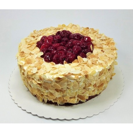 Bezlaktózový malinovo vanilkový dort