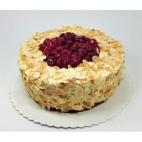 Bezlepkový malinovo vanilkový dort
