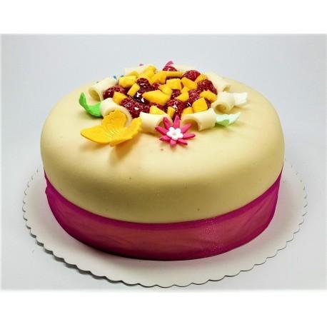 Bezlaktózový marcipánový dort