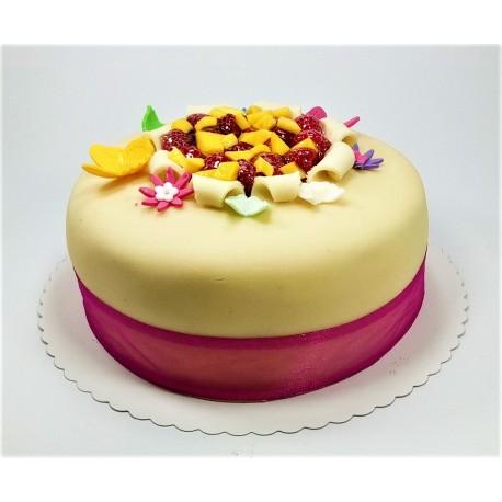 Bezlepkový marcipánový dort