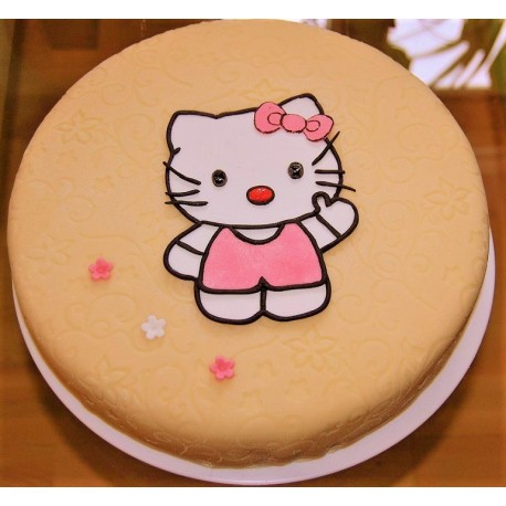 Marcipánový dort s Hello Kitty