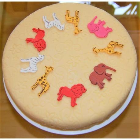Marcipánový dort se zvířátky