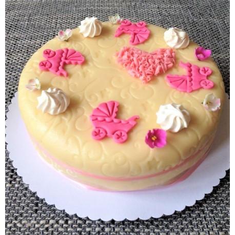 Marcipánový dort na křtiny