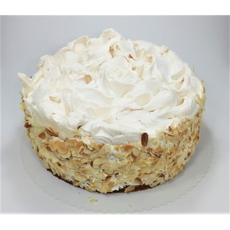Bezlepkový vanilkový dort s jahodami a sněhovou krustou