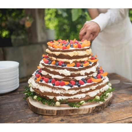 Vanilkovo-meruňkový naked dort s čerstvým ovocem