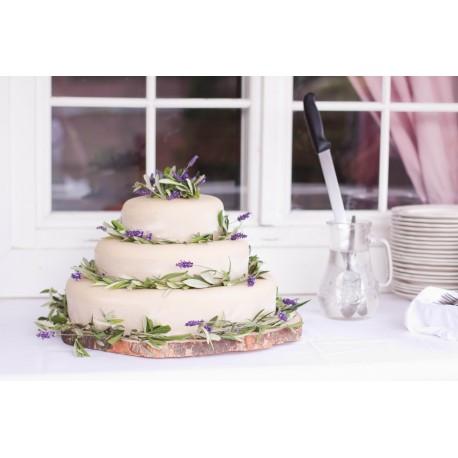 Marcipánový dort s levandulí