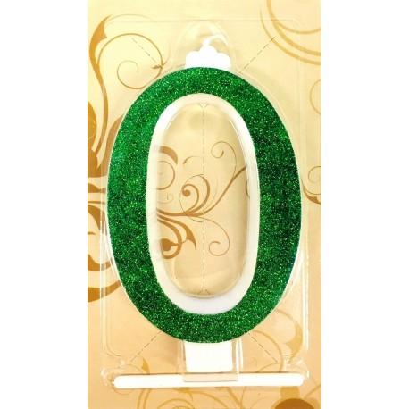Svíčka zelená - tvar číslice