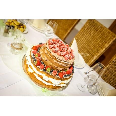 Vanilkovo-čokoládový naked dort s čerstvým ovocem
