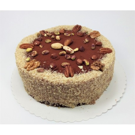 Bezlaktózový ořechový dort